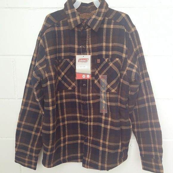 fef1c328368 Coleman Men s Sherpa Lined Flannel Shirt Jacket